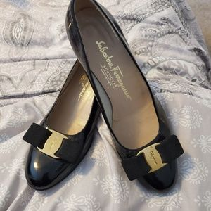 Vintage Salvatore Ferragamo patent leather shoes